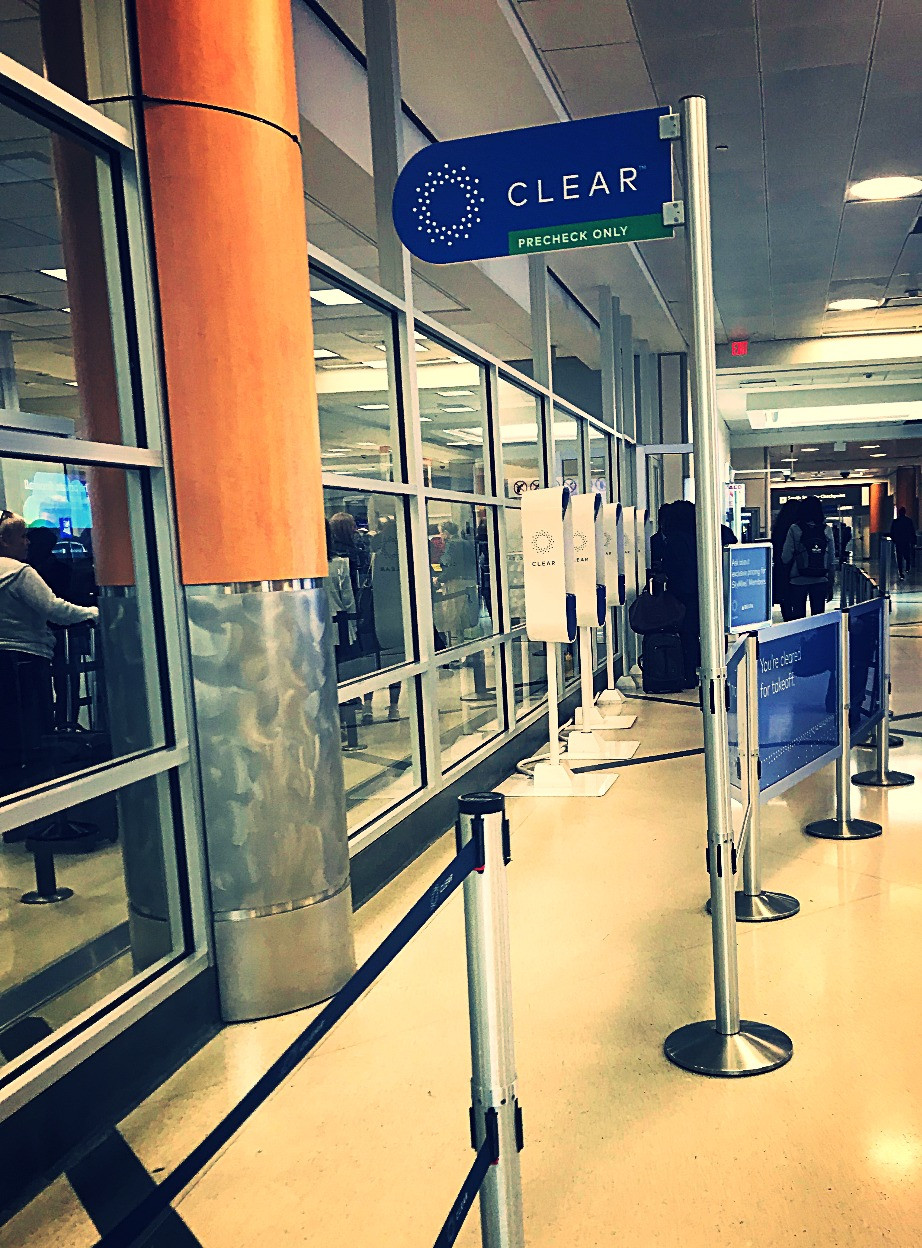 Clear security line at ATL airport taken by Kita the Explorer