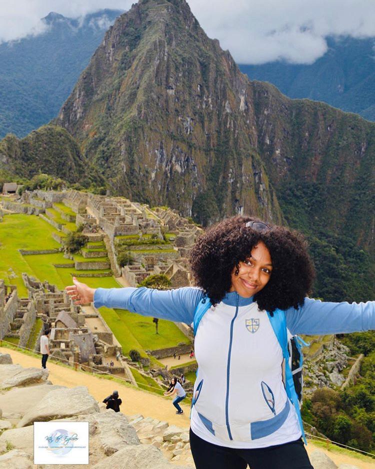 Kita the Explorer enjoying Machu Picchu