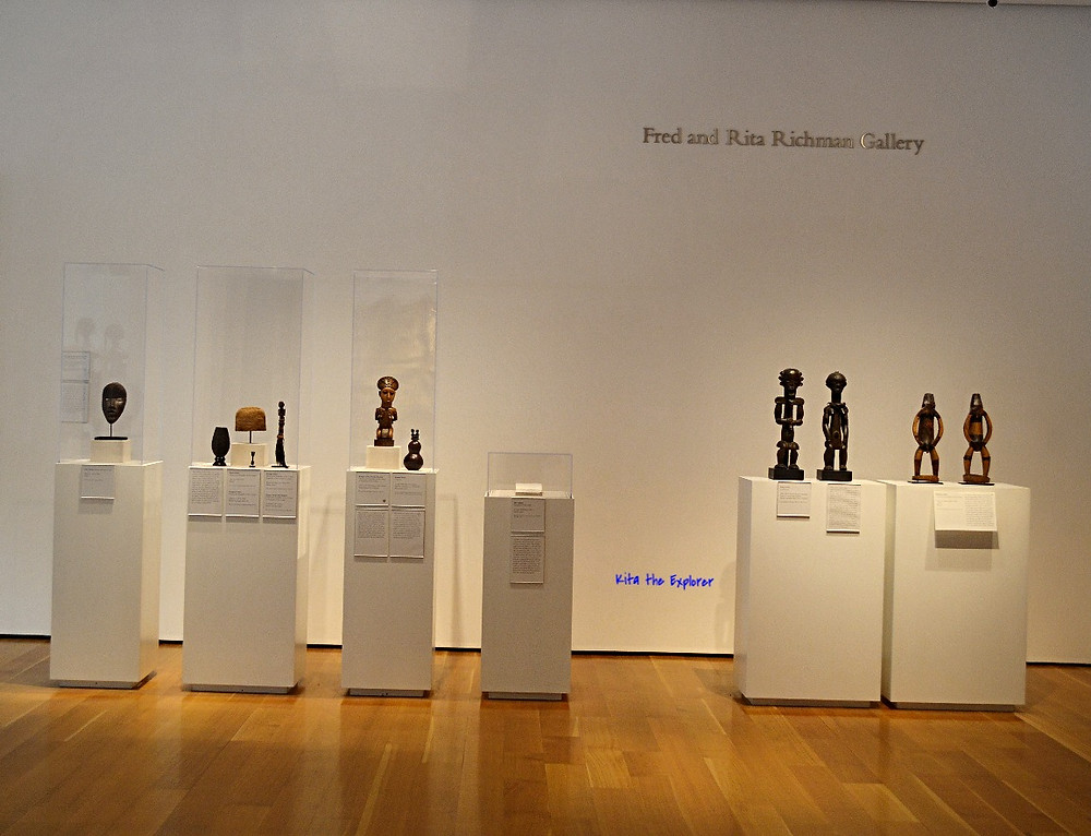 Fred and Rita Richman Gallery with African Art