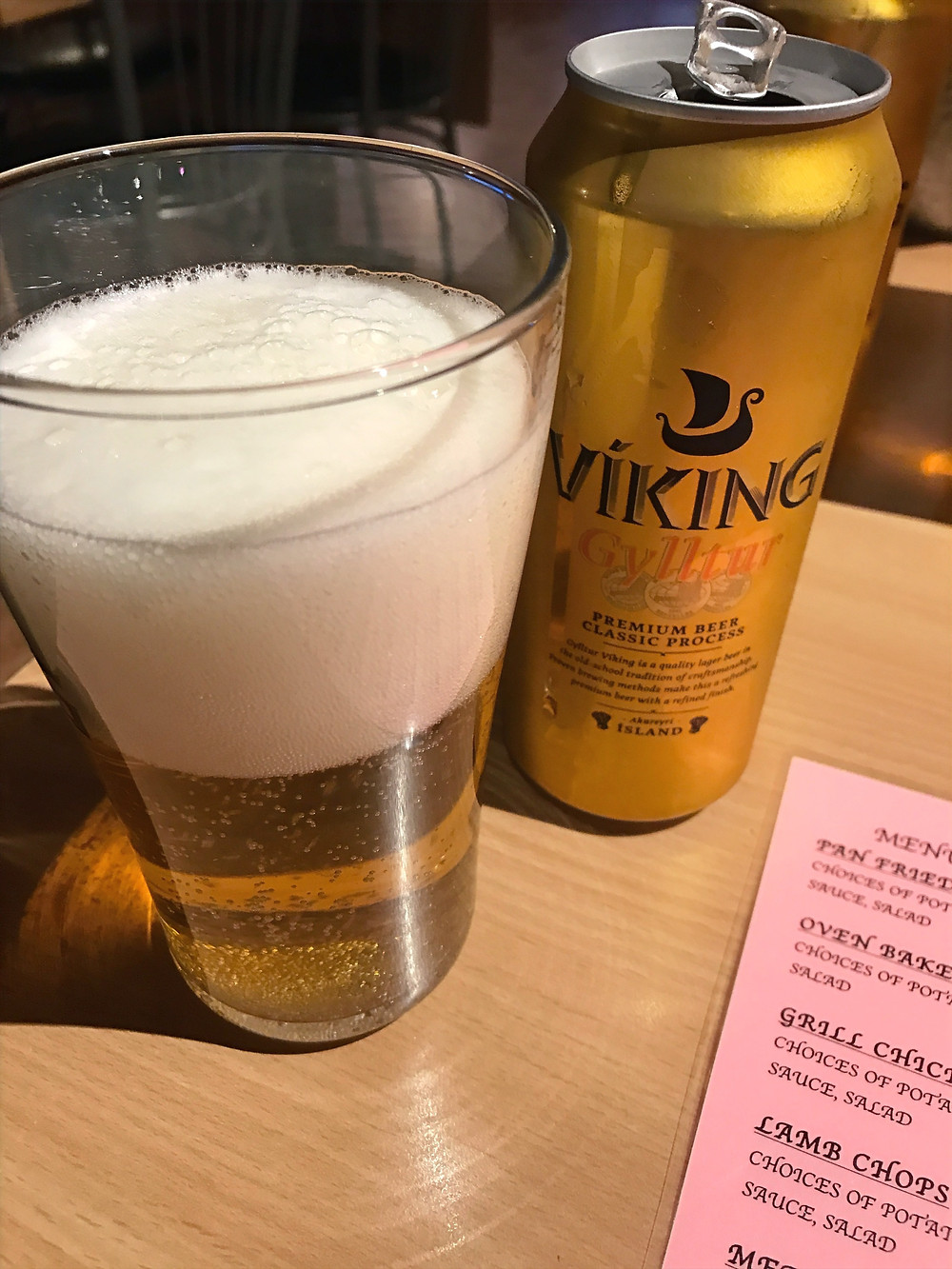 Trying Viking Beer