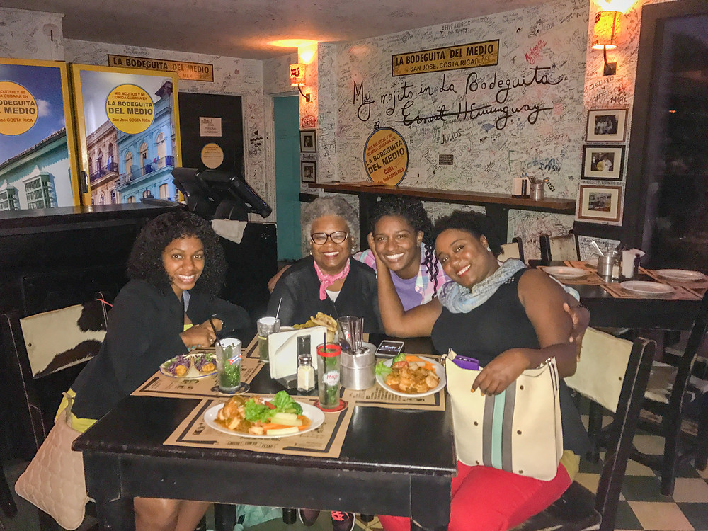 Eating Dinner With New Friends at La Bodeguita Del Medio