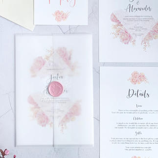 Rosa invitation suite