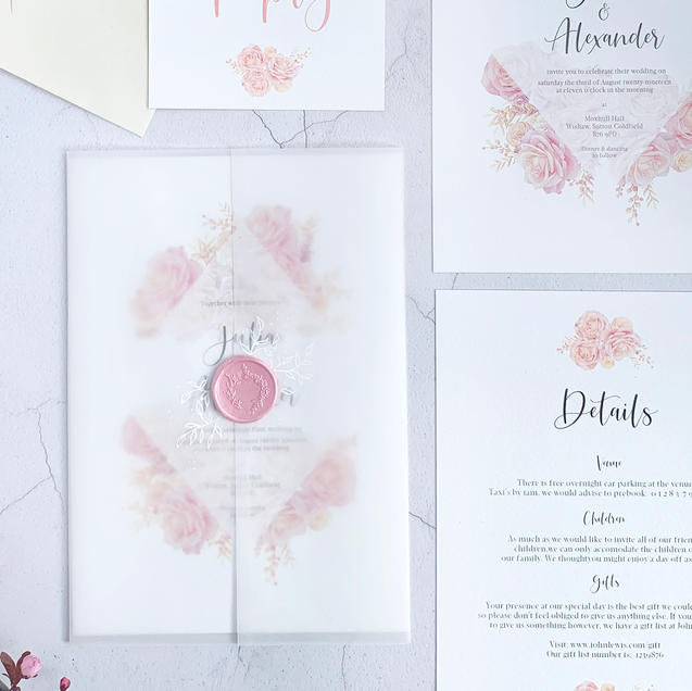 Rosa invitation suite