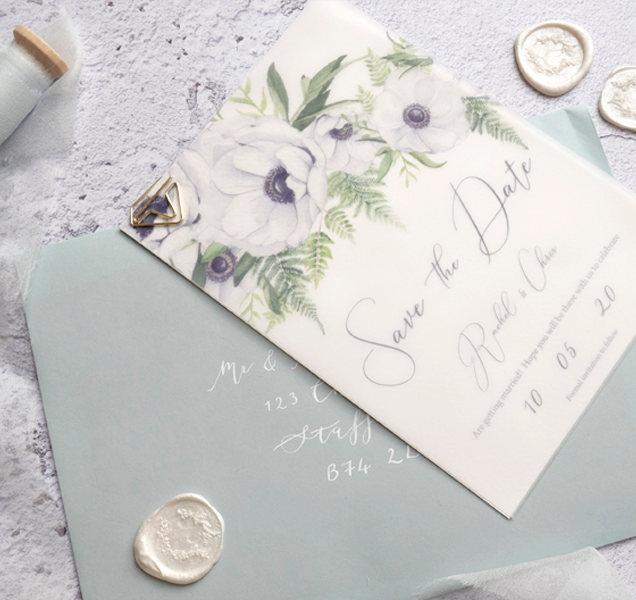 anenome watercolour wedding invitation s
