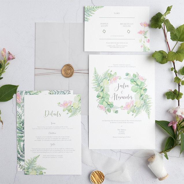 Fern invitation suite