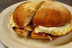 early bird egg sandwich