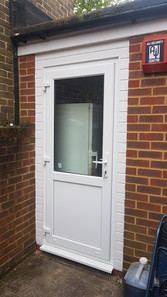 New PVC door at aback of cafe in Bookham-Surrey