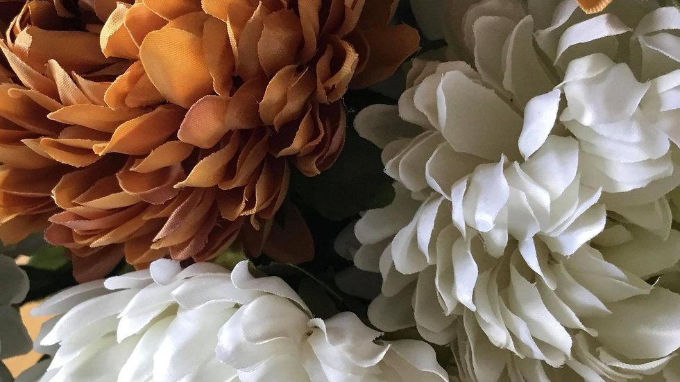 Silk Chrysanthemum 3 for £12