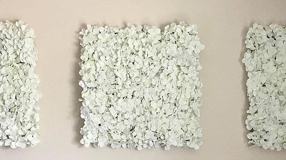 Hydrangea White Wall Panel