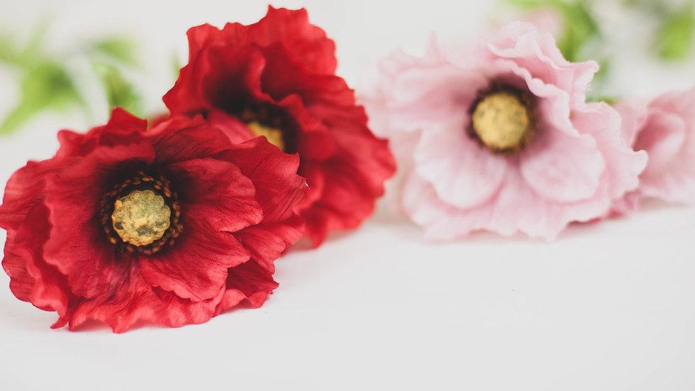 Silk Country Poppy Stem