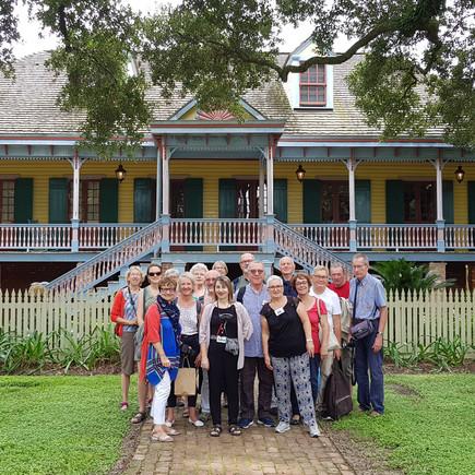 La première délégation à la  Nouvelle-Orléans