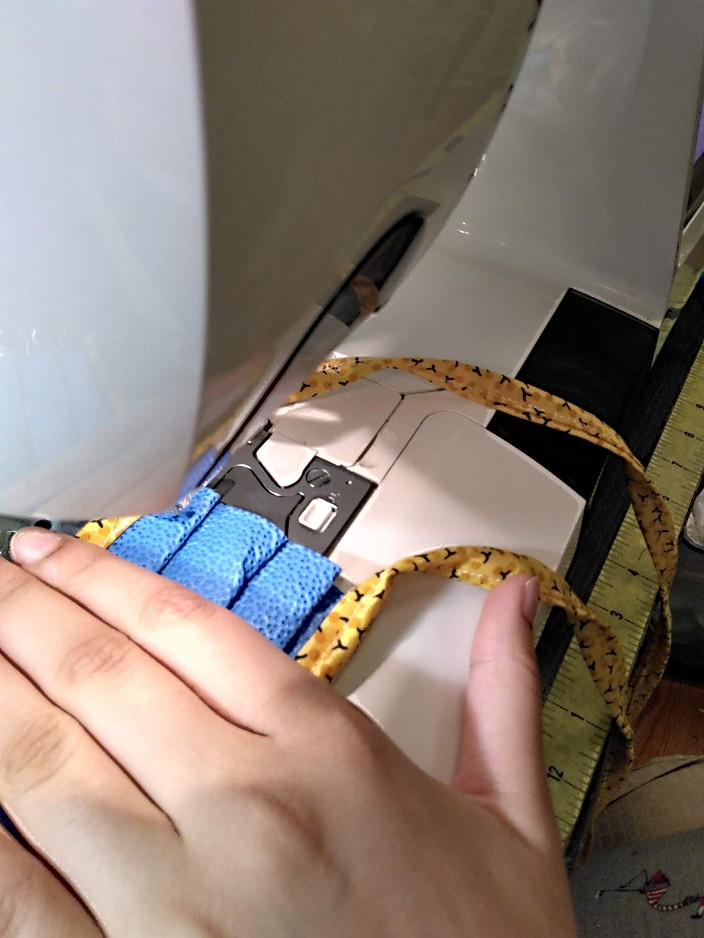 Attaching the ties