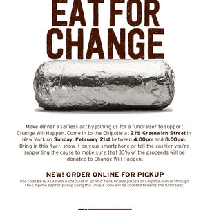 Chipotle fundraiser B8T9AT9 21 275 Green