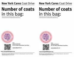 Coat drive worksheet tag