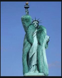 liberty wearing a coat