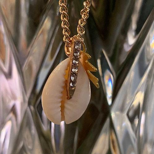 Diamond Shell Necklace