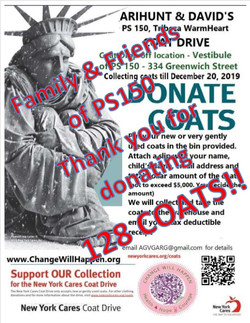 Coat drive poster - thank you