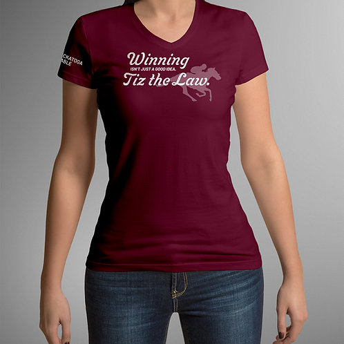 Winning is the law | Women's v-neck t-shirt