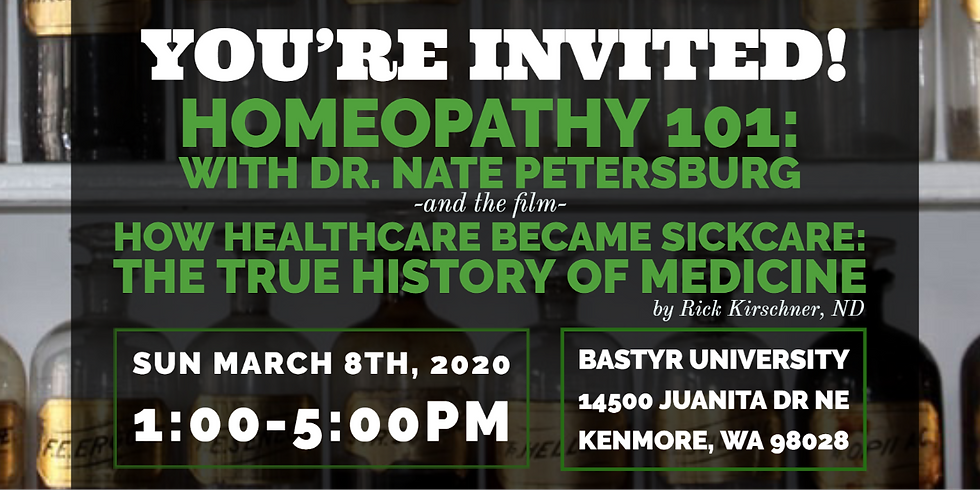 Homeopathy with Dr. Nate Petersburg & the film How Healthcare Became Sickcare