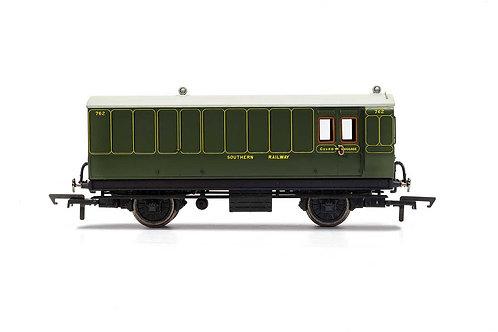 R40088 SR Brake Baggage 4 wheel coach Electric lights+step boards 762