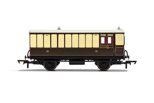 R40068 GWR 4 Wheel Coach Brake Baggage 1411 - Era 2/3