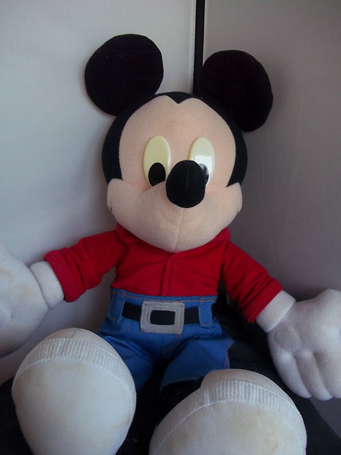 """RARE COLLECTABLE 17"""" Talking Giggling Disney Mickey Mouse Vintage Toy"""