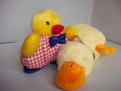 2 x Vintage Collectable Ducks 1 BNWT Soft PLush Cuddly Toys