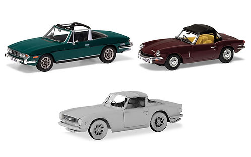 TC00004 Sporting Triumph collection. Stag, Spitfire TR6