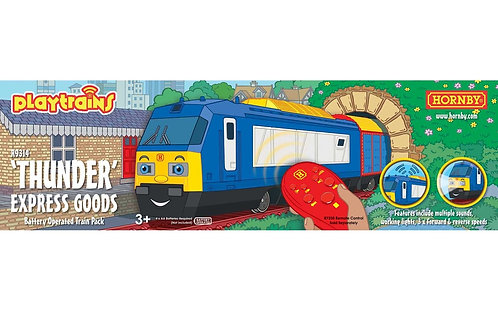 R9314 Playtrains - 'Thunder' Express Goods Remote Controlled Locomotive