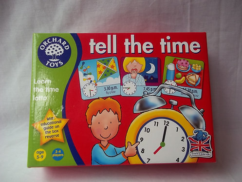 Orchard Toys-Tell The Time Age 5-9 2-4 Players