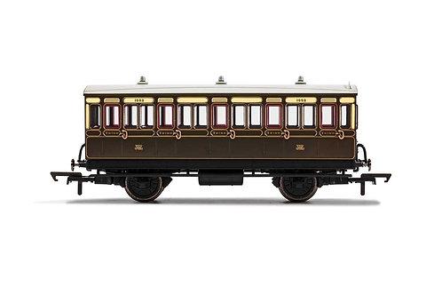 R40066A GWR 4 Wheel Coach 3rd Class 1882 - Era 2/3