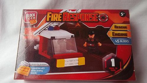 Bloch Tech Fire Response 45 Lego Type Blocks 5+