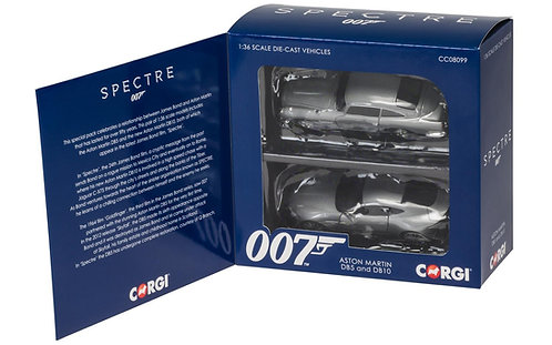 James Bond Aston Martin DB10 and DB5 - 'Spectre' twin pack 1:36 Scale