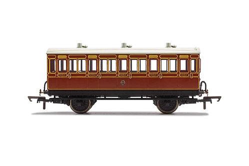 R40116A LB&SCR 4 Wheel Coach 3rd Class Fitted Lights 881 - Era 2