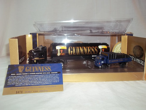 Corgi Limited Ed. Guiness Scania Tanker & Karrier
