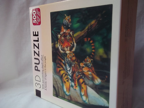 3D Puzzle Jigsaw Tigers in the Jungle 500 Pieces