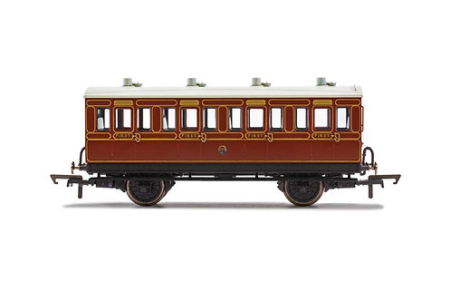 R40115 LB&SCR 4 Wheel Coach 1st Class Fitted Lights 474 - Era 2