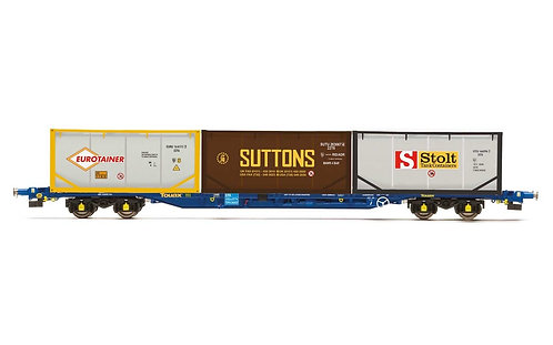R60046 Touax KFA Container Wagon with 3 x 20' Tanktainers - Era 11