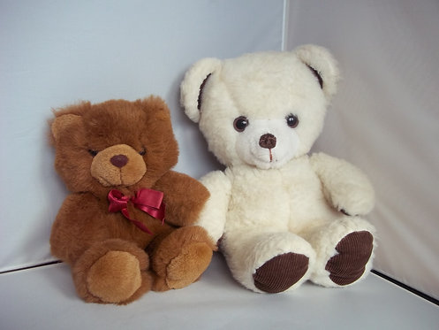 Job Lot/Bundle 2 x Cuddly Soft Plush Teddy Bears