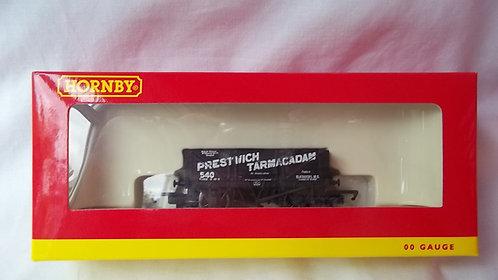 Hornby OO Gauge Prestwich Tarmacadam 4 Plank Wagon
