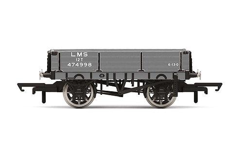 R60022 3 Plank Wagon LMS - Era 3