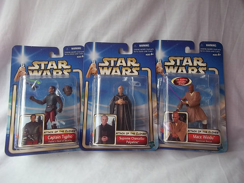 """Star Wars Attack Of The Clones 3.75"""" Figures"""
