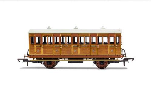 R40104A GNR 4 Wheel Coach 3rd Class Fitted Lights 1505 - Era 2
