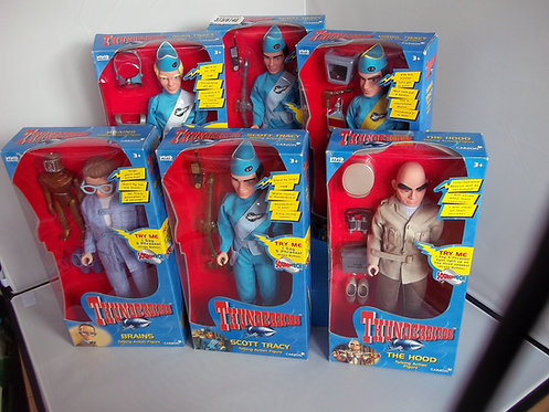 """12"""" Thunderbirds Talking Action Figure New Boxed Vintage"""