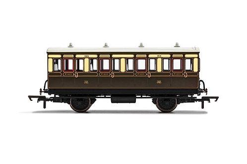 R40065 GWR 4 Wheel Coach 1st Class 143 - Era 2/3