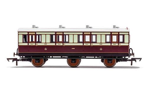 R40073 LNWR 6 Wheel Coach 1st Class 1889-Era 2