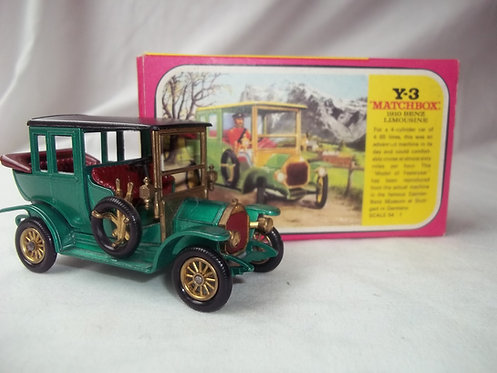 Matchbox Models of Yesteryear Y3 Benz 1910 Limo