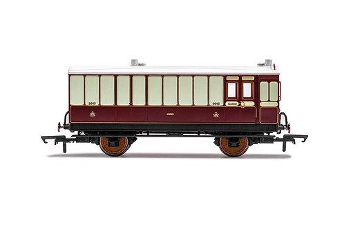 R40076 LNWR Brake Baggage 4 wheel coach Oil Lamps+step boards 9645