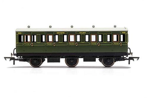 R40086A SR 3rd Class 5 Door 6 wheel coach Electric lights+step boards 1909