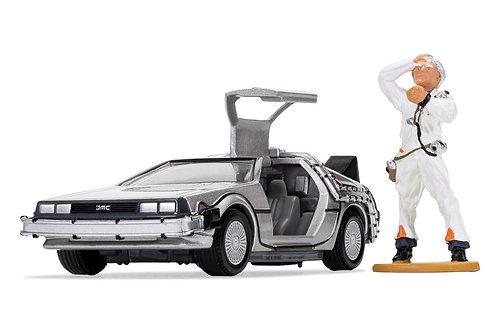 Back to the Future DeLorean and Doc Brown Figure